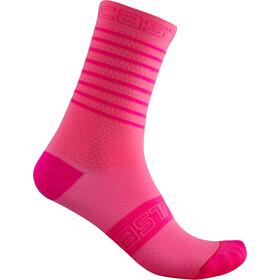 Castelli SuperLeggera 12 Socks Women, pink fluo